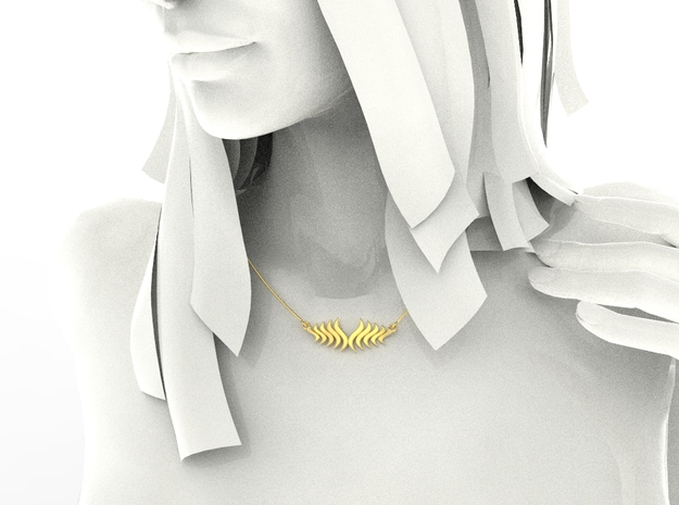 Fashion Fire Pendant1008 in 18k Gold Plated Brass