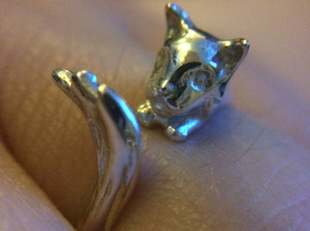 Silvercat Ring in Polished Silver: 8.5 / 58