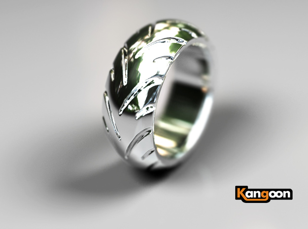Ray Zing Massiv - Ring - US 9 - 19 mm inside 3d printed Premium Silver preview