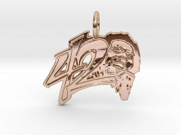 420 Pendant in 14k Rose Gold Plated Brass