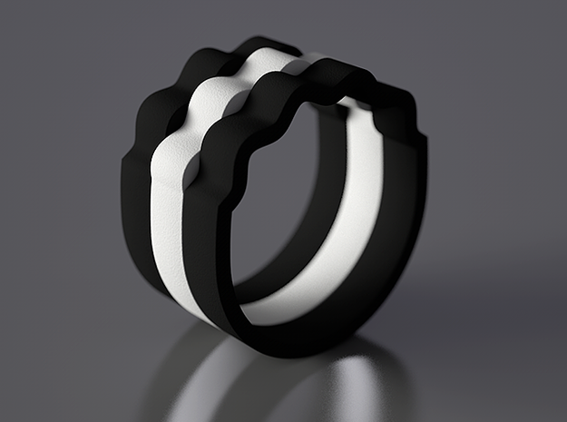 Wave Ring - Positive [sizes 7-10] 3d printed