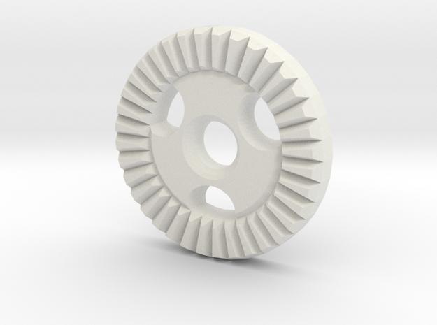 """Immortan Joe """"Straight"""" Gear Badge / Medal in White Natural Versatile Plastic"""