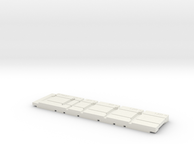 1:32 Fowler Portable Track Construction Jig in White Natural Versatile Plastic