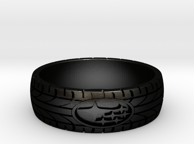 SUBARU ring size 24 mm (US 15 1/4) in Matte Black Steel