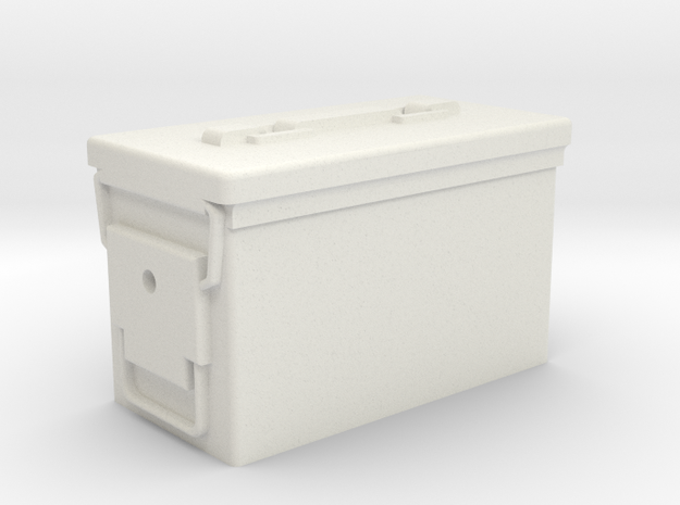 DSPRO .50 CAL Ammo Can in White Strong & Flexible