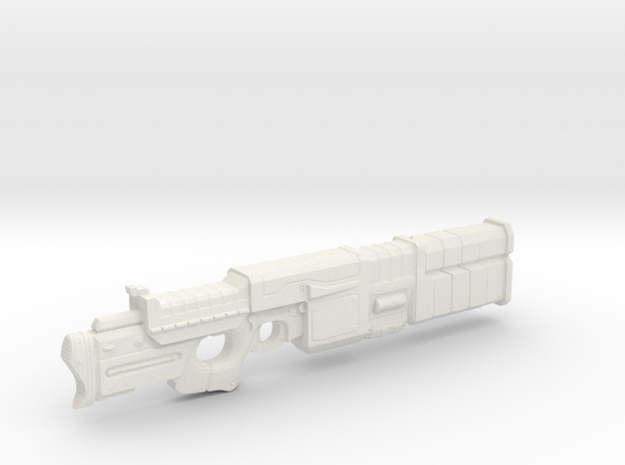 1/18th Scale Railgun MK II in White Strong & Flexible