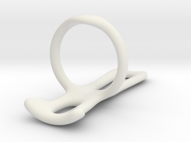 Trigger Ring splint (Smooth) Us size 12 in White Natural Versatile Plastic