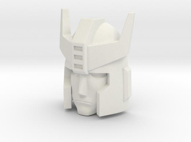 Prowl 18mm Headmaster hoofd in White Natural Versatile Plastic