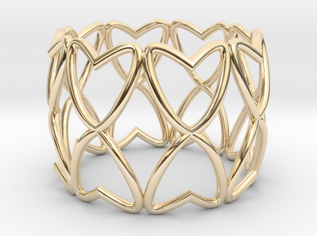 Ring 17.3mm in 14k Gold Plated Brass