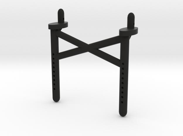Dual Scx10 Long Rear Body Shaft in Black Natural Versatile Plastic