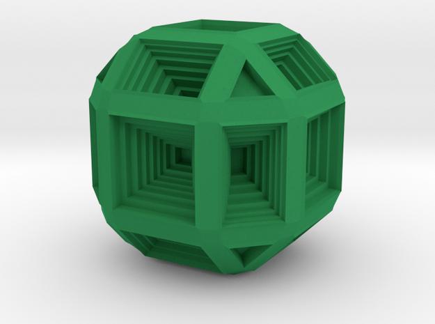 Hypno Cube in Green Processed Versatile Plastic