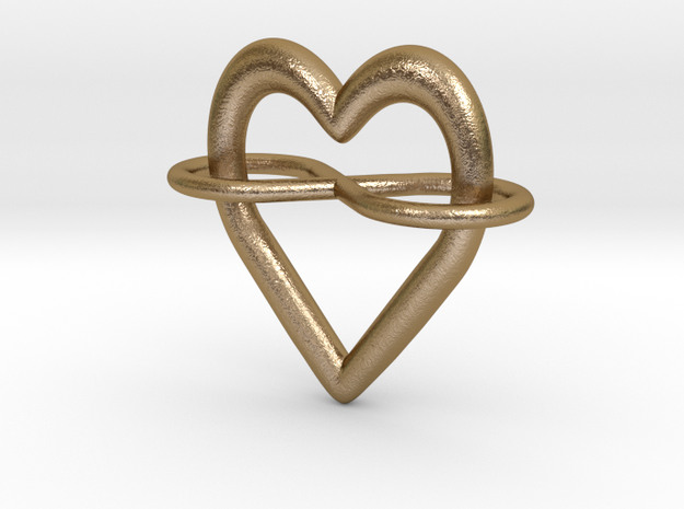 Polyamory Symbol in Polished Gold Steel