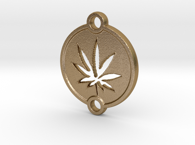 KEY CHAIN 2 in Polished Gold Steel