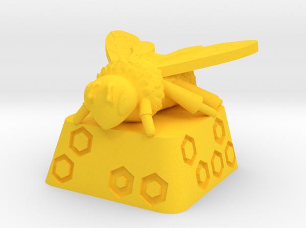 Cherry MX Beecap in Yellow Processed Versatile Plastic