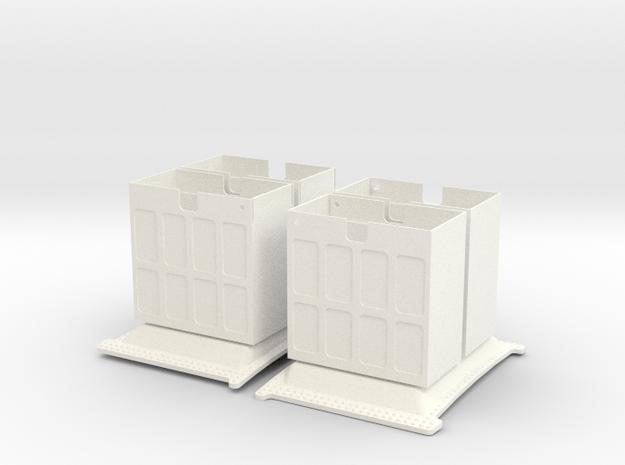 1.8 FLARES SUPER PUMA (B/C) in White Processed Versatile Plastic
