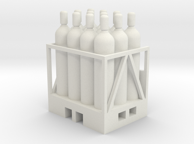 Acetylene Tanks On Pallet 1-45 Scale in White Natural Versatile Plastic
