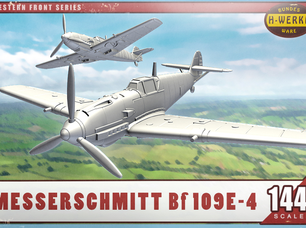 1/144th - Messerschmitt me.109E-4 in Smooth Fine Detail Plastic
