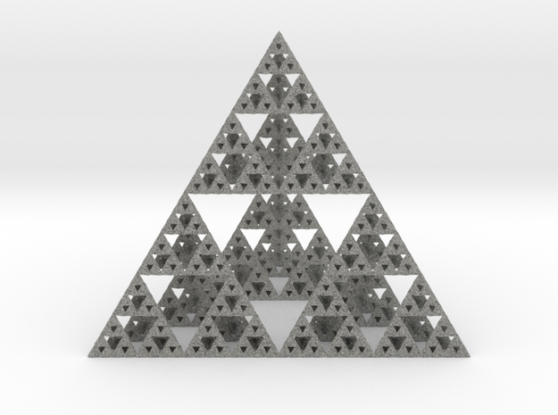 Sierpinski Tetrahedron in Metallic Plastic