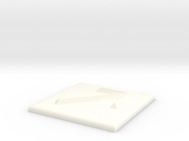 Pfeil nach rechts oben in White Processed Versatile Plastic