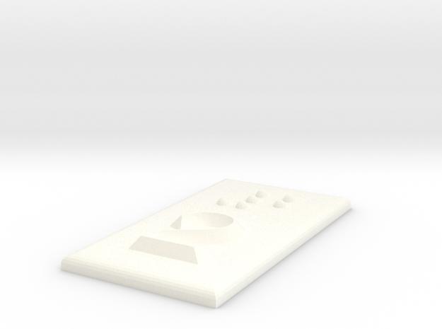 2 (Zwei) in White Processed Versatile Plastic