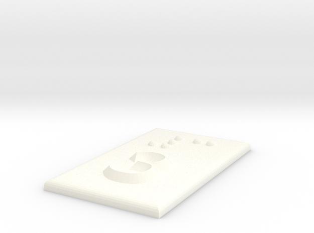 3 (Drei) in White Processed Versatile Plastic