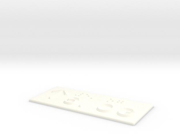 5.OG mit Pfeil nach oben in White Processed Versatile Plastic