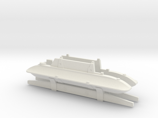 ROTJ EE-3 Body Greeblies in White Natural Versatile Plastic