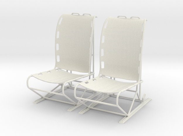 1.5 LAMA PILOT SEATS X2 in White Strong & Flexible