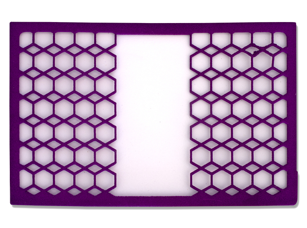 Tessellated Hexagon Wallet - 2 Cards in Purple Processed Versatile Plastic