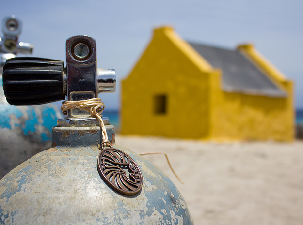 Bonaire Keychain/Pendant in Polished Bronze Steel