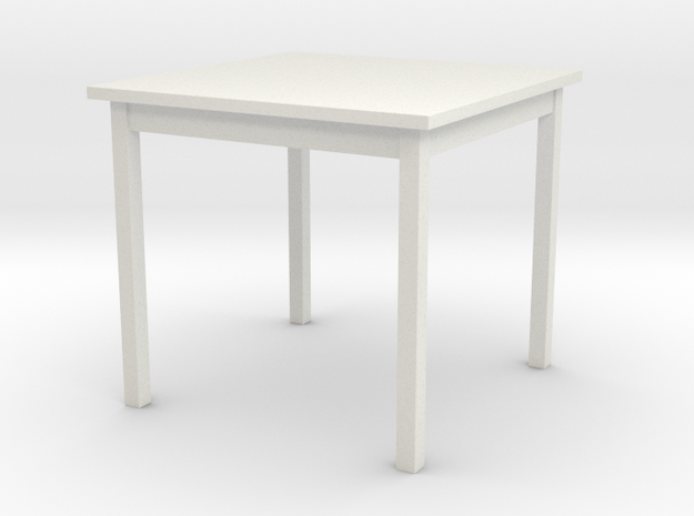 1/6 scale Table in White Strong & Flexible