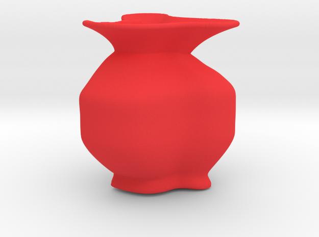Wide lip vase in Red Processed Versatile Plastic