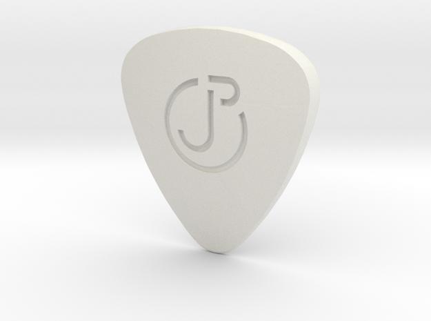 Engraved Logo ThickPick in White Natural Versatile Plastic