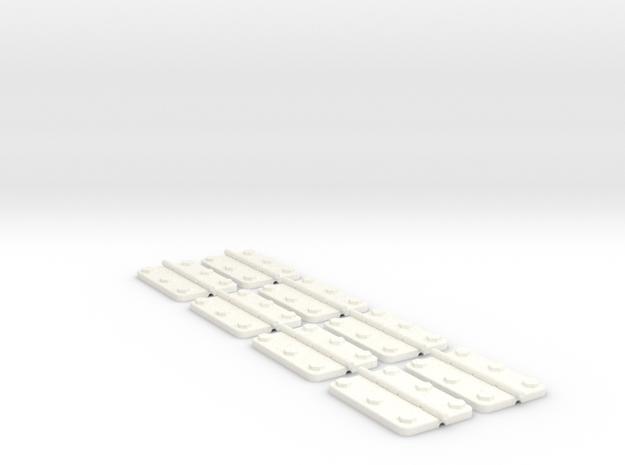 1.5 EC155 CHARNIERES CAPOTS X8 in White Processed Versatile Plastic