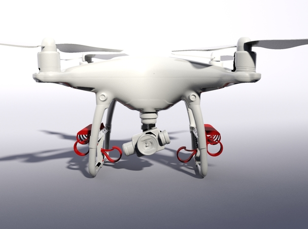 Hoox SAR - Hook set for DJI Phantom 4 in Red Strong & Flexible Polished