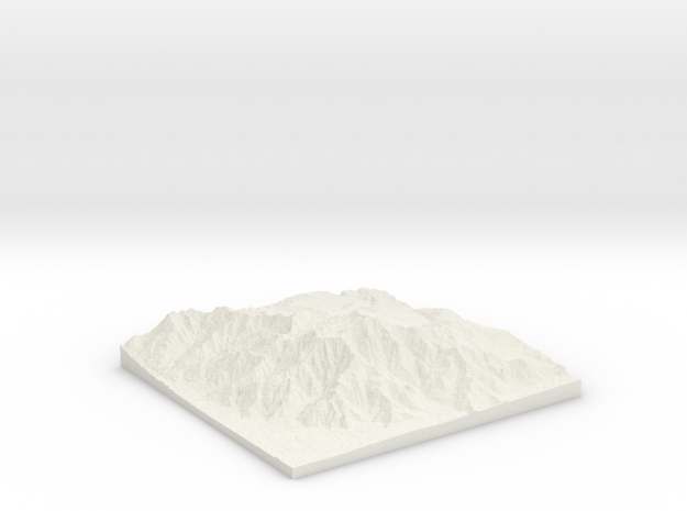 Mt. San Jacinto, California in White Natural Versatile Plastic