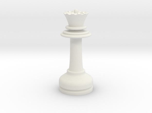 MILOSAURUS Chess LARGE Staunton Queen in White Natural Versatile Plastic
