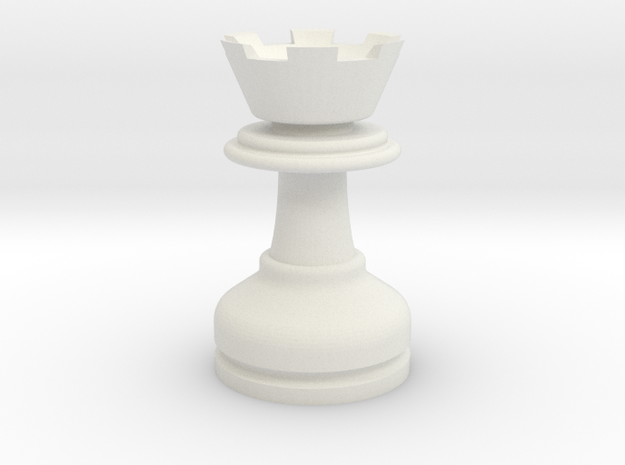 MILOSAURUS Chess LARGE Staunton Rook in White Natural Versatile Plastic