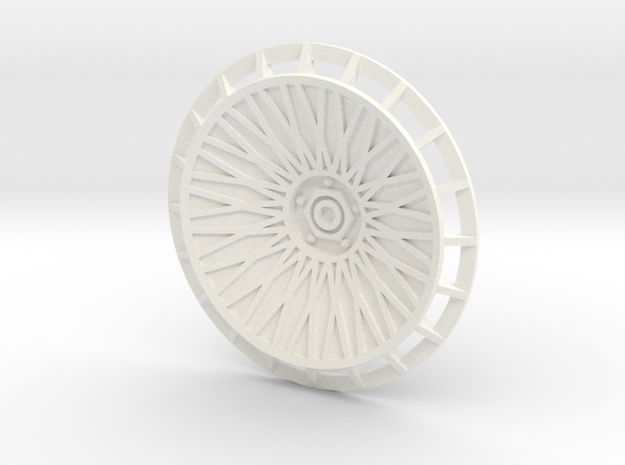 BBS Wheel Cover/Fan With Spokes and Axle in White Strong & Flexible Polished