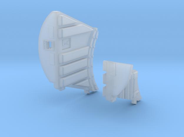 Cockpit Corridor Walls for DeAgo Falcon in Smooth Fine Detail Plastic