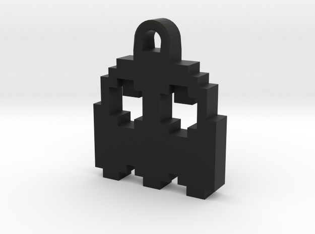 Pac Man Ghost 8-bit Earring 2 (looks up) 3d printed