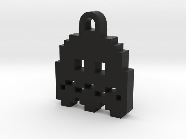 Pac Man Ghost 8-bit Earring 2 (afraid) 3d printed