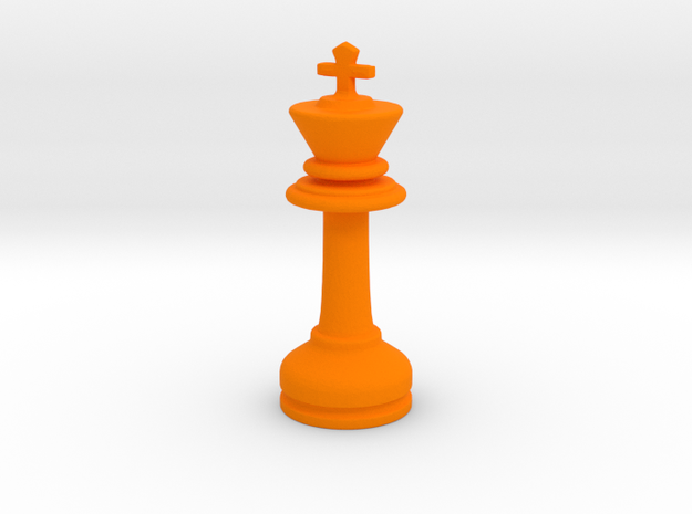 MILOSAURUS Chess MINI Staunton King in Orange Processed Versatile Plastic