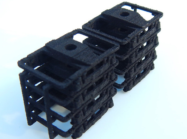 CNSM - 8 Interurban Trucks in Black Natural Versatile Plastic