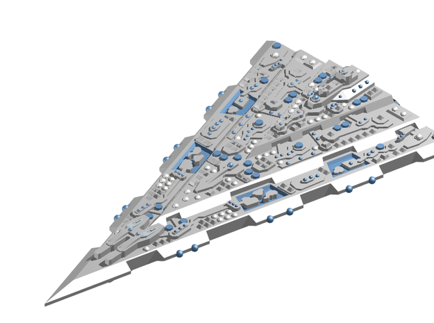 GDH:D302A Delta Superdreadnought Upgrade in White Strong & Flexible