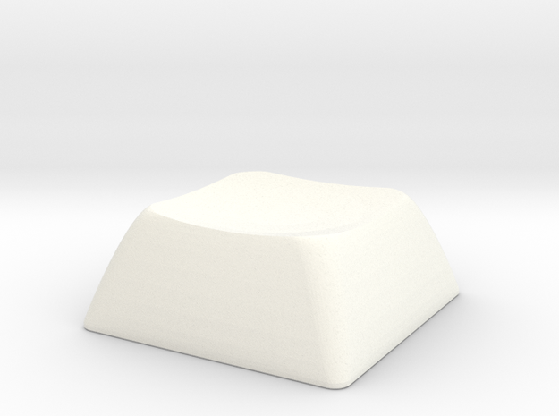1S ALPS/Matias compatible DSA keycap in White Processed Versatile Plastic
