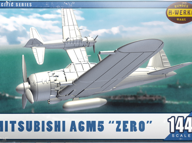 "1/144th - Mitsubishi A6M5 ""Zero"" in Frosted Ultra Detail"