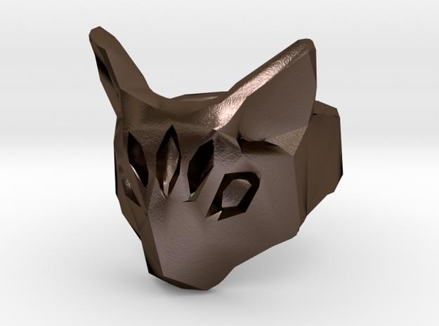 Polygonal cat ring (various sizes) 3d printed