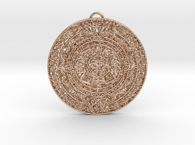 Aztec Pendant in 14k Rose Gold Plated Brass