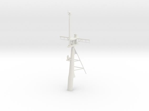 1/72 scale Secratary Class (Hamilton) -  Rear Mast in White Natural Versatile Plastic